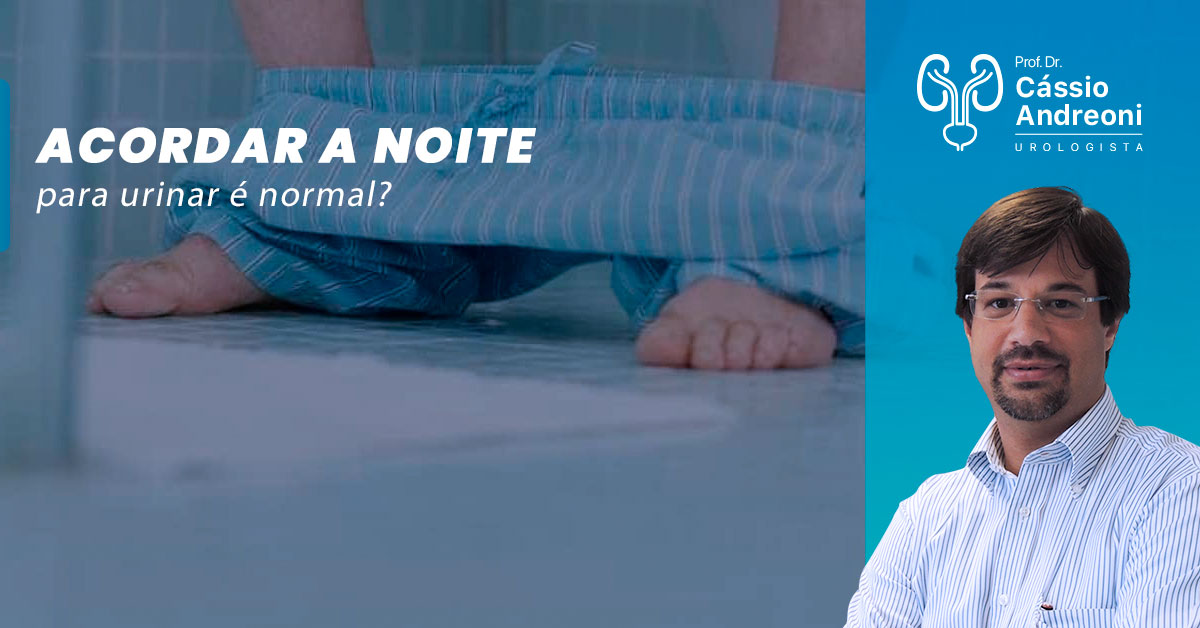 Acordar a noite para urinar é normal?